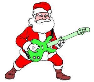 Rock N Roll Santa